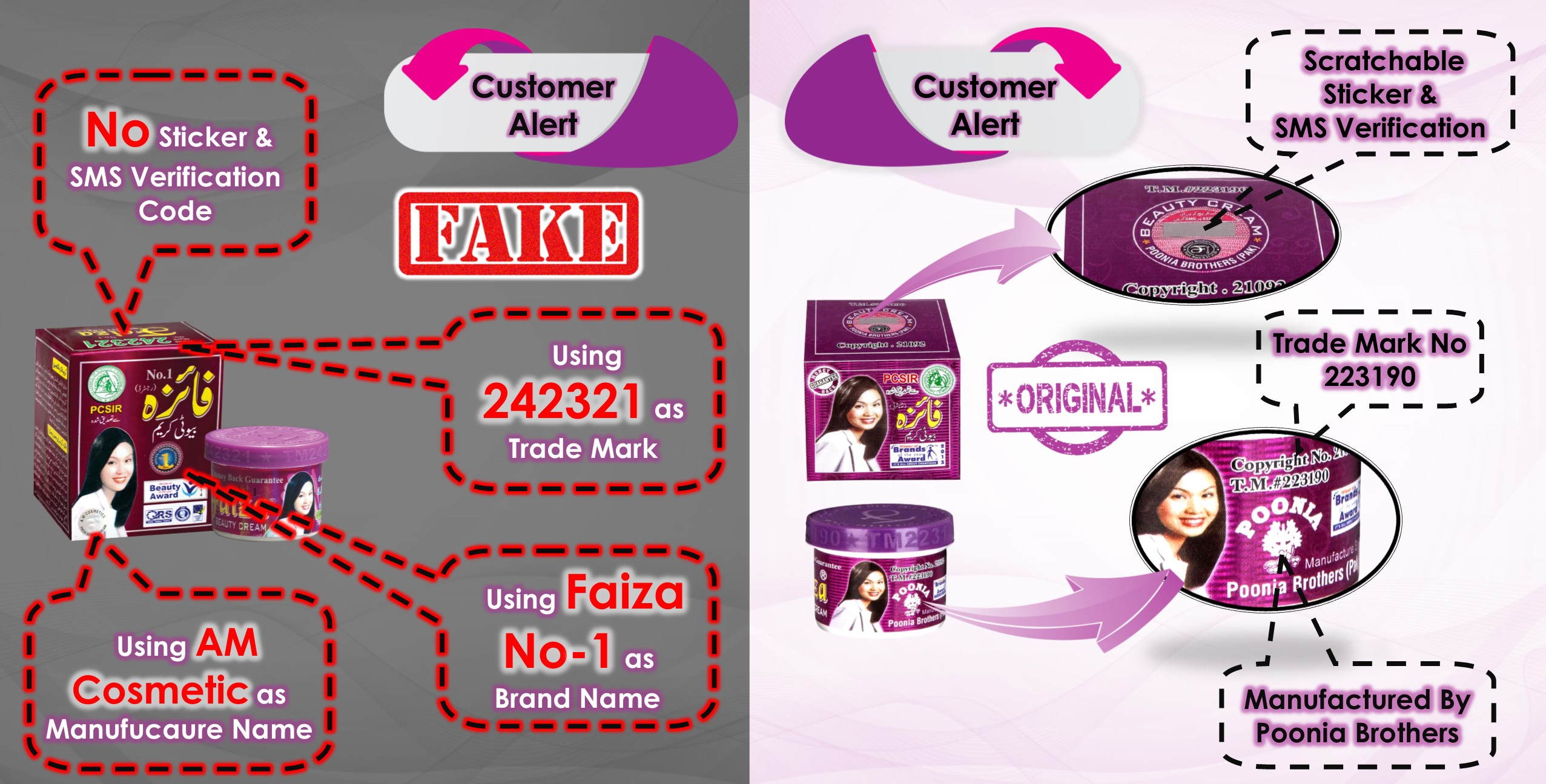 Fake Faiza Beauty Cream